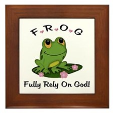 FROG Fully Rely On God Framed Tile