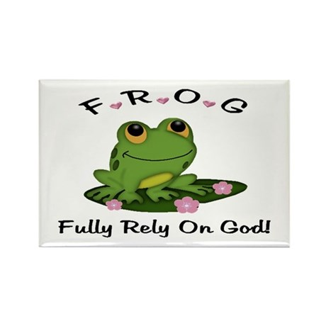 FROG Fully Rely On God Rectangle Magnet (100 pack)