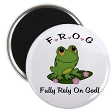 "FROG Fully Rely On God 2.25"" Magnet (10 pack)"