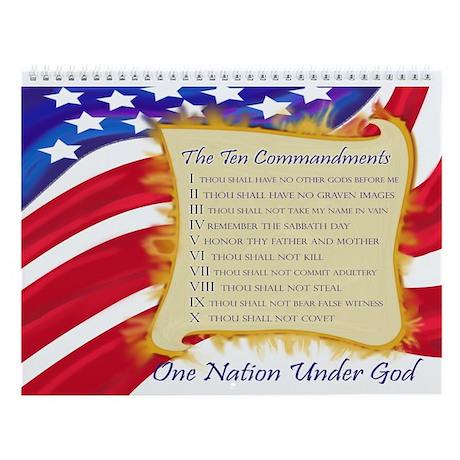 Ten Commandments 12 Month Wall Calendar