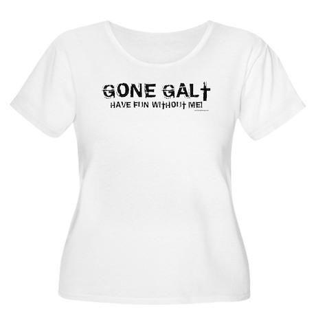 Gone Galt Women's Plus Size Scoop Neck T-Shirt