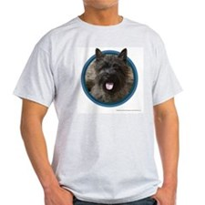 Cairn Terrier Art Ash Grey T-Shirt