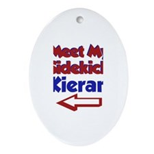 Kieran's Sidekick (Left) Oval Ornament