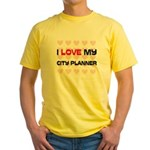 I Love My City Planner Yellow T-Shirt