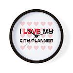 I Love My City Planner Wall Clock