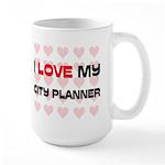 I Love My City Planner Large Mug
