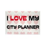 I Love My City Planner Rectangle Magnet