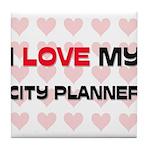 I Love My City Planner Tile Coaster