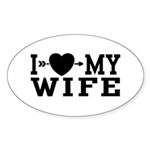 I Love My Wife Oval Sticker