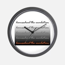 Homeschool the Revolution Wall Clock
