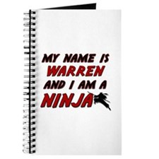 my name is warren and i am a ninja Journal