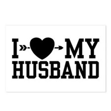 I Love My Husband Postcards (Package of 8)