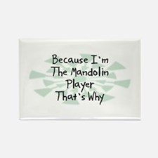 Because Mandolin Player Rectangle Magnet