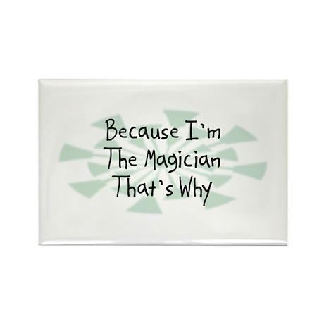 Because Magician Rectangle Magnet