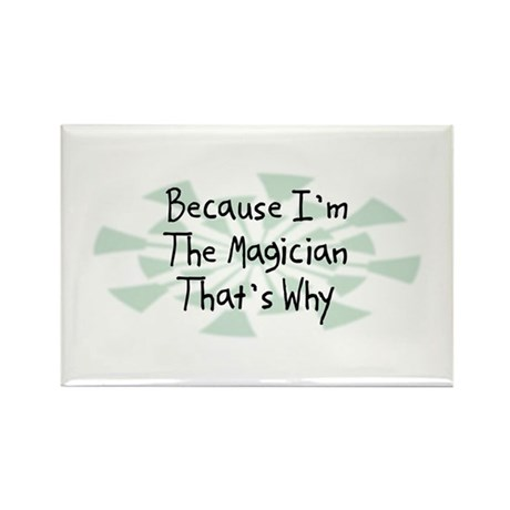 Because Magician Rectangle Magnet (10 pack)