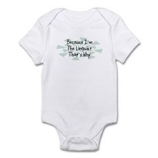 Because Linguist Infant Bodysuit