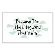 Because Lifeguard Rectangle Decal