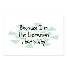 Because Librarian Postcards (Package of 8)