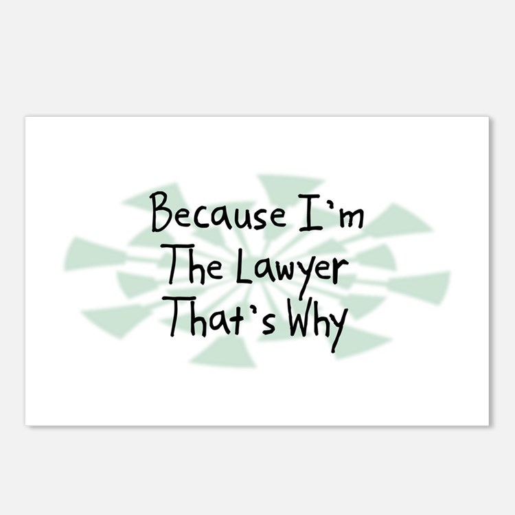Because Lawyer Postcards (Package of 8)