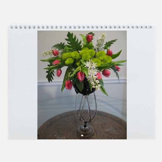Unique Flowers Wall Calendar