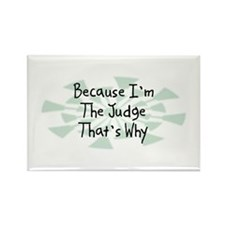 Because Judge Rectangle Magnet (100 pack)
