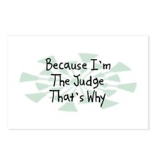 Because Judge Postcards (Package of 8)
