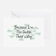 Because Judge Greeting Card