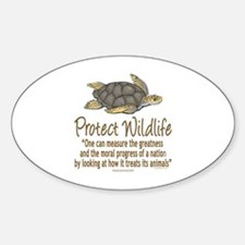 Protect Sea Turtles Sticker (Oval)