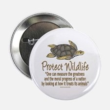 """Protect Sea Turtles 2.25"""" Button (10 pack)"""