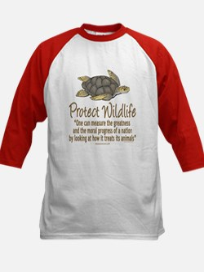 Protect Sea Turtles Kids Baseball Jersey
