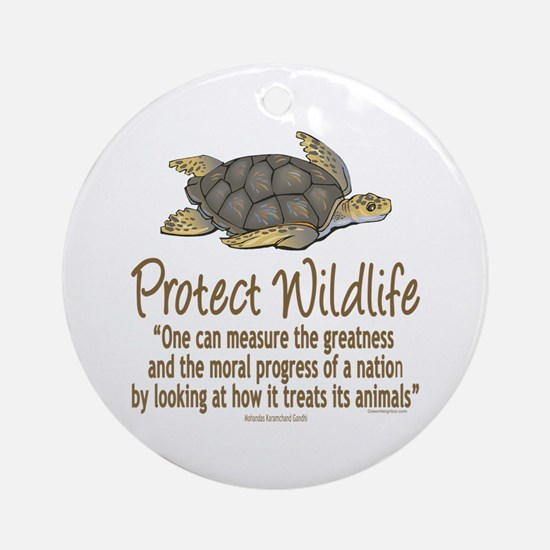 Protect Sea Turtles Ornament (Round)
