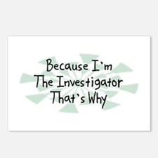 Because Investigator Postcards (Package of 8)