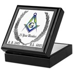 Masonic 25 Year Member Keepsake Box