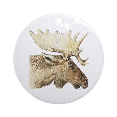 moose drawing Ornament (Round)