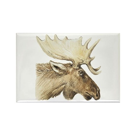 moose drawing Rectangle Magnet (100 pack)