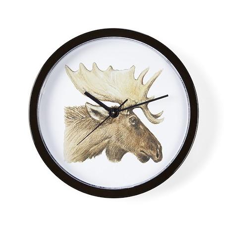 moose drawing Wall Clock
