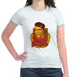 Barack Is My Comrade Jr. Ringer T-Shirt