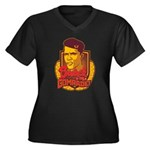 Barack Is My Comrade Women's Plus Size V-Neck Dark