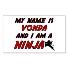 my name is vonda and i am a ninja Decal