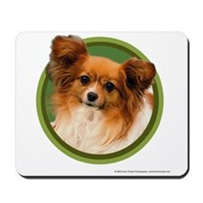 Papillon Art (Green) Mousepad
