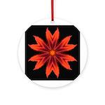 Orange Lily II Ornament (Round)