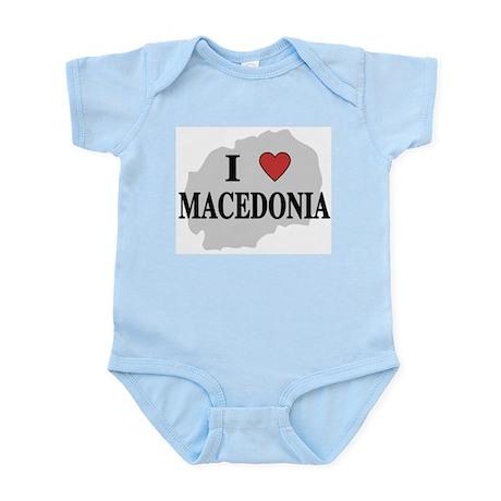 I Love Macedonia Infant Creeper