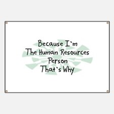 Because Human Resources Person Banner