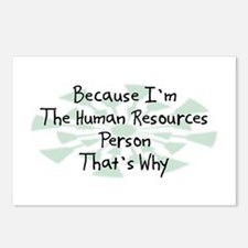 Because Human Resources Person Postcards (Package