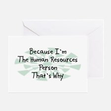 Because Human Resources Person Greeting Card