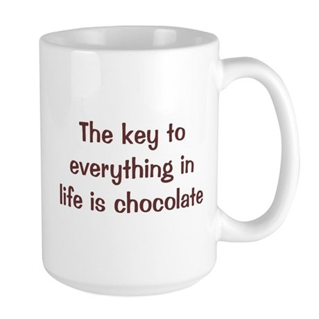 Key Is Chocolate Large Mug