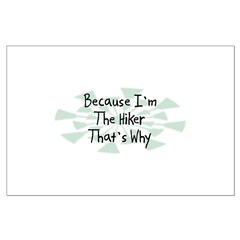 Because Hiker Posters