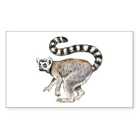Ring-tailed Lemur Rectangle Sticker