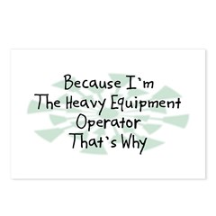 Because Heavy Equipment Operator Postcards (Packag