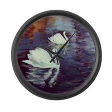 Swan Family Large Wall Clock